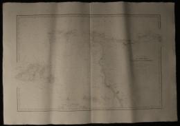 ( Normandie Manche  ) Carte Marine DE PORT BAIL à La POINTE DE BARFLEUR Guernesey 1902 - Cartes Marines