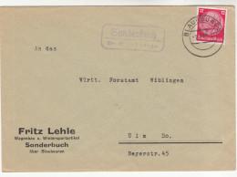 Brief-Kuvert, Deutsches Reich, Mit Landpoststempel Sonderbuch über Blaubeuren, 1938 - Briefe U. Dokumente