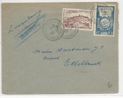1947 - ENVELOPPE De MARSEILLE Pour ETTELBRUCK (LUXEMBOURG) - - Marcophilie (Lettres)