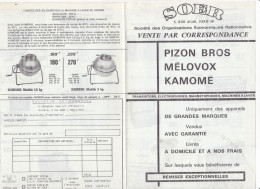 Tract Publicitaire Publicite Radio  Tansistor TSF Electrophone Machine à Laver Kamone  -SOER Paris - Publicités