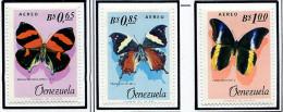 (cl. 34 - P. 22) Venezuela * PA N° 873 à 875 - Papillon  - - Papillons