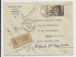 1952 - SEUL Sur ENVELOPPE RECOMMANDEE Par AVION De YSSINGEAUX (HAUTE LOIRE) Pour DAKAR (SENEGAL) - Marcophilie (Lettres)