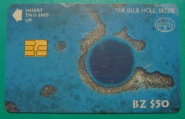 BELIZE 50$ CHIP CARD ND, THE BLUE HOLE, UNUSED LITTLE OPENED (1). - Belize