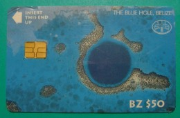 BELIZE 50$ CHIP CARD ND, THE BLUE HOLE, UNUSED LITTLE OPENED (2). - Belize