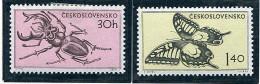 (cl. 34 - P. 31) Tchecoslovaquie * N° 821 - 823  - Insecte, Papillon - - Butterflies