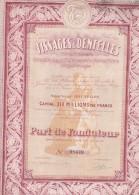 PART DE FONDATEUR -TISSAGES & DENTELLES -BRUXELLES -  1929 - Textile