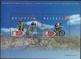 2004 Schweiz Mi.  Bl 35  FD-used  Fahrradland Schweiz - Switzerland