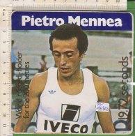 PO4876D# ADESIVO STICKERS - SPORT ATLETICA - WORLD RECORD-HOLDER FOR THE 200 METRES - PIETRO MENNEA - Atletica