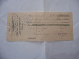ASSEGNO PREMIATA DISTILLERIA DI LIQUORI STABILIMENTO ENOLOGICO ANTONIO PASTORE MILANO  1910 - Assegni & Assegni Di Viaggio