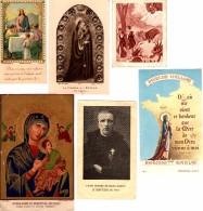 6 Cartes Religieuses Anciennes  - 4 Prières Et 2 Images - Images Religieuses