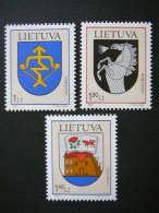 Lietuva Litauen Lituanie Litouwen Lithuania 2004 MNH # Mi. 838/0 Town Arms. - Lithuania