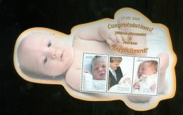 WILLEM-ALEXANDER En MAXIMA Gefeliciteerd * Blok Van 3 Postzegels GUYANA * KONINKLIJKE FAMILIE (10.437) - Guyana (1966-...)