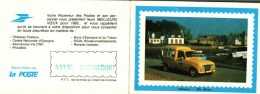 Petit Calendrier  LA POSTE  1982  -   Automobile  RENAULT Jaune - Calendari