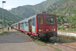 """Tende (06) 29/07/2005 - L´autorail X2216 En Livrée """"Train Des Merveilles"""" - Stations With Trains"""