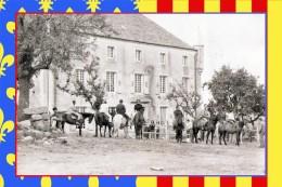 Chastanier (48) Manoir Du Meylet - Aout 1970 - Départ En Randonée équestre - France