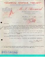 Factuur Facture - Maroc Omnia Trust - M.J. Bernard - Casablanca 1930 - Autres