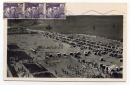 LL , 14 , TROUVILLE-DEAUVILLE , Vue Panoramique De La Plage , Voyagée 1952 , N°40 , Ed: Artaud Père Et Fils Et GABY - Deauville
