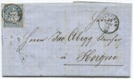 1306 - PFÄFFIKON 23 MÄRZ 65 Auf Faltbrief Nach Horgen - 1862-1881 Sitzende Helvetia (gezähnt)