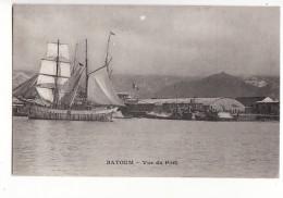 Georgie - Batoum - Vue Du Port - Voilier / Carte Précurseur Messagerie Maritime - Géorgie