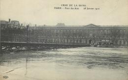 75 PARIS CRUE DE LA SEINE PONT DES ARTS 28 JANVIER 1910 - Alluvioni Del 1910