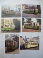 LILLE-ROUBAIX-TOURCOING : TRAMWAY (série 6) Motrices Anciennes Avant 1982 LOT De 6 CPM - Voir Les Scans Recto-verso - Tranvía