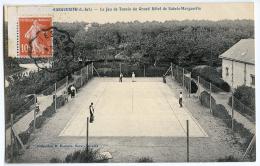 CPA SAINTE MARGUERITE - LE JEU DE TENNIS DU GRAND HOTEL DE SAINTE MARGUERITE - France