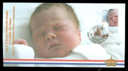 KONINKLIJKE FAMILIE * BRIEFOMSLAG GUYANA * GEBOORTE PRINSES AMALIA (10.437d) - Guyana (1966-...)