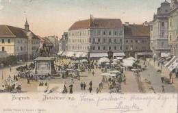 Zagreb - Jelacic Square 1903 - Croatia