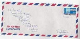 Air Mail COSTA RICA COVER  11.70 MIGRACIONES Stamps To GB - Costa Rica
