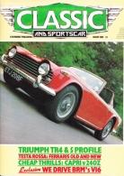 CLASSIC AND SPORTSCAR - AUGUST 1985 - TRIUMPH TR4 - Trasporti