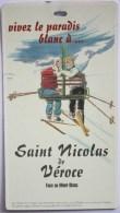 Forfait Ski Combloux Jaillet  6 Mar 96 (dimensions 7x12,5 Cm) - Autres