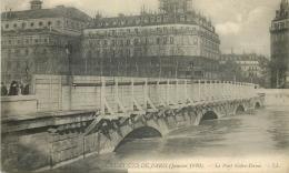 75 PARIS INONDATIONS JANVIER 1910 PONT NOTRE-DAME LL - Alluvioni Del 1910
