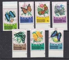 Grenada Grenadines 1975 Butterflies 7v Used (27833) - Grenada (1974-...)