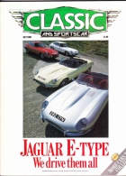 CLASSIC AND SPORTSCAR - JULY 1989 - JAGUAR E TYPE - Trasporti