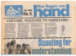 14de World Jamboree, 'Five Fingers One Hand'2/8/1975, Nr 5, Nordjamb - Scoutisme