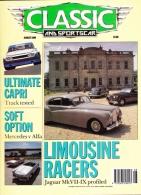 CLASSIC AND SPORTSCAR - AUGUST 1990 - FORD CAPRI RS - Trasporti