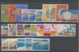ANTILLES NEERLANDAISES: **, N°477 à 500, Ensemble Complet, Le N°481: 1 Dt D´angle Crte, TB - Curazao, Antillas Holandesas, Aruba