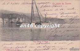 UN SALUTO DA SAVONA-UNA VEDUTA DI MARE-VG 1903-2 SCAN-BUONA CONSERVAZIONE-VEDI OFFERTA SPECIALE SPEDIZIONE- - Savona