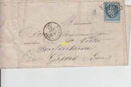 Timbre Sur Lettre     7 Octobre 1868 - 1863-1870 Napoleone III Con Gli Allori