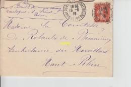 Lettre Pour Madame La Contesse De Beaurieux   1916 - Documenti Storici