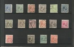 ESPAÑA 1889/99 - ED 213/228 SERIE COMPLETA - 1870-72 Régence