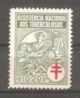 Viñeta Asistencia Nacional  Tuberculosos 1929 - España