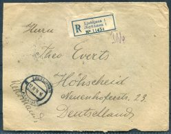 1924 Ljubljana Registered Cover - Hohscheid, Germany - 1919-1929 Kingdom Of Serbs, Croats And Slovenes
