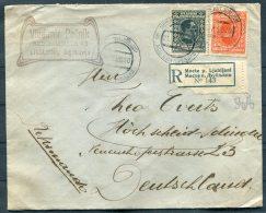 1926 Mocte P. Ljubljani Registered Cover - Hohscheid, Germany - 1919-1929 Kingdom Of Serbs, Croats And Slovenes