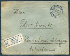1928 Maribor Registered Cover - Hohscheid, Germany - 1919-1929 Kingdom Of Serbs, Croats And Slovenes