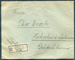 1928 Maribor Registered Cover - Hohscheid, Germany - 1919-1929 Königreich Der Serben, Kroaten & Slowenen