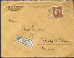 1925  Slovenjgradec Registered Cover - Hohscheid, Germany - 1919-1929 Kingdom Of Serbs, Croats And Slovenes