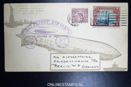 Graf Zeppelin First Flight USA Germany 0ct 1928 Mixed Stamps - Posta Aerea