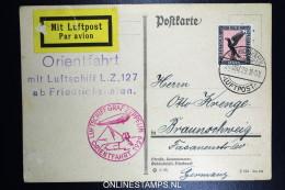 Graf Zeppelin Orientfahrt LZ 127 1929   Sieger 23I - Luftpost
