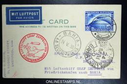 Graf Zeppelin Südamerikafahrt LZ 127 1930 Sieger  57 L  To Bahia    Mi 438 - Luftpost